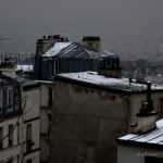 18ème arrondissement – les toits enneigés de la butte montmartre