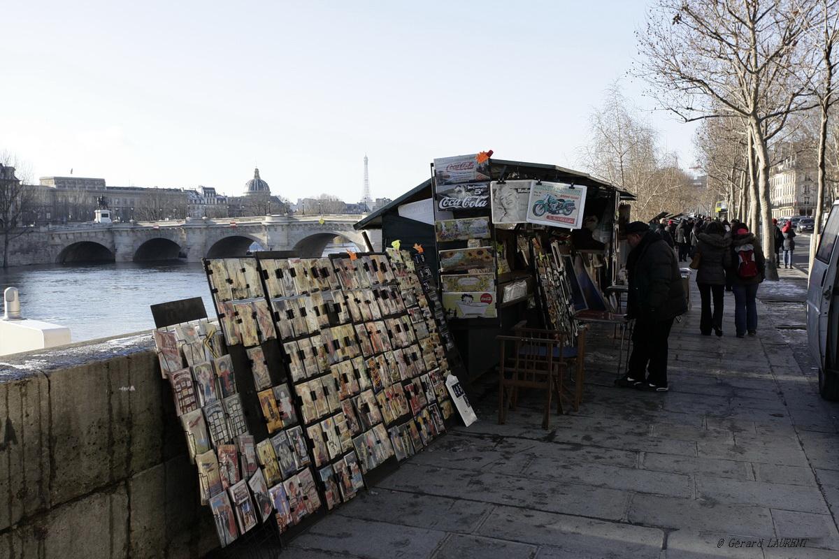1er arrondissement - Un petit tour chez les bouquinistes du quai de la Mégisserie