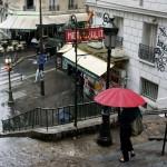 18ème arrondissement – Il pleut métro Lamarck