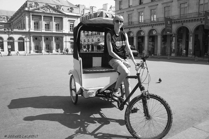 1er arrondissement – En pousse-pousse au Palais Royal