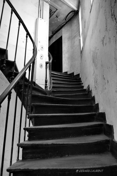 La patte d'oie de l'escalier