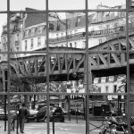 15ème arrondissement – Reflet du métro aérien à Dupleix