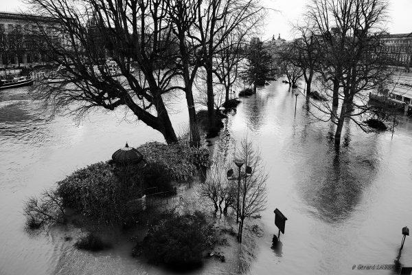 1er arrondissement - Crue de la Seine square du Vert Galant #1