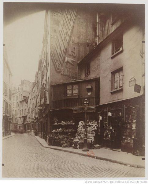 Rue Galande - mai 1899 - Atget, Eugène (1857-1927) - via Gallica.bnf.fr