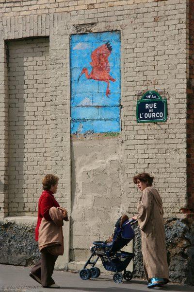 19ème arrondissement - La cigogne de la rue de l'Ourcq (2005)